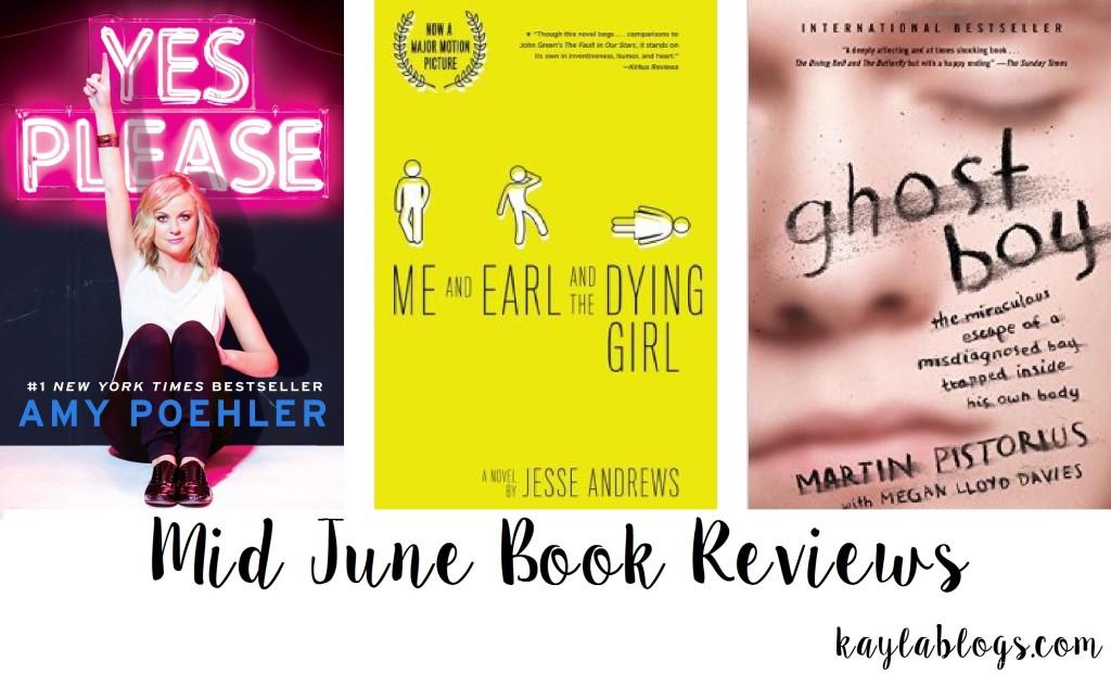 Mid June Book Reviews!