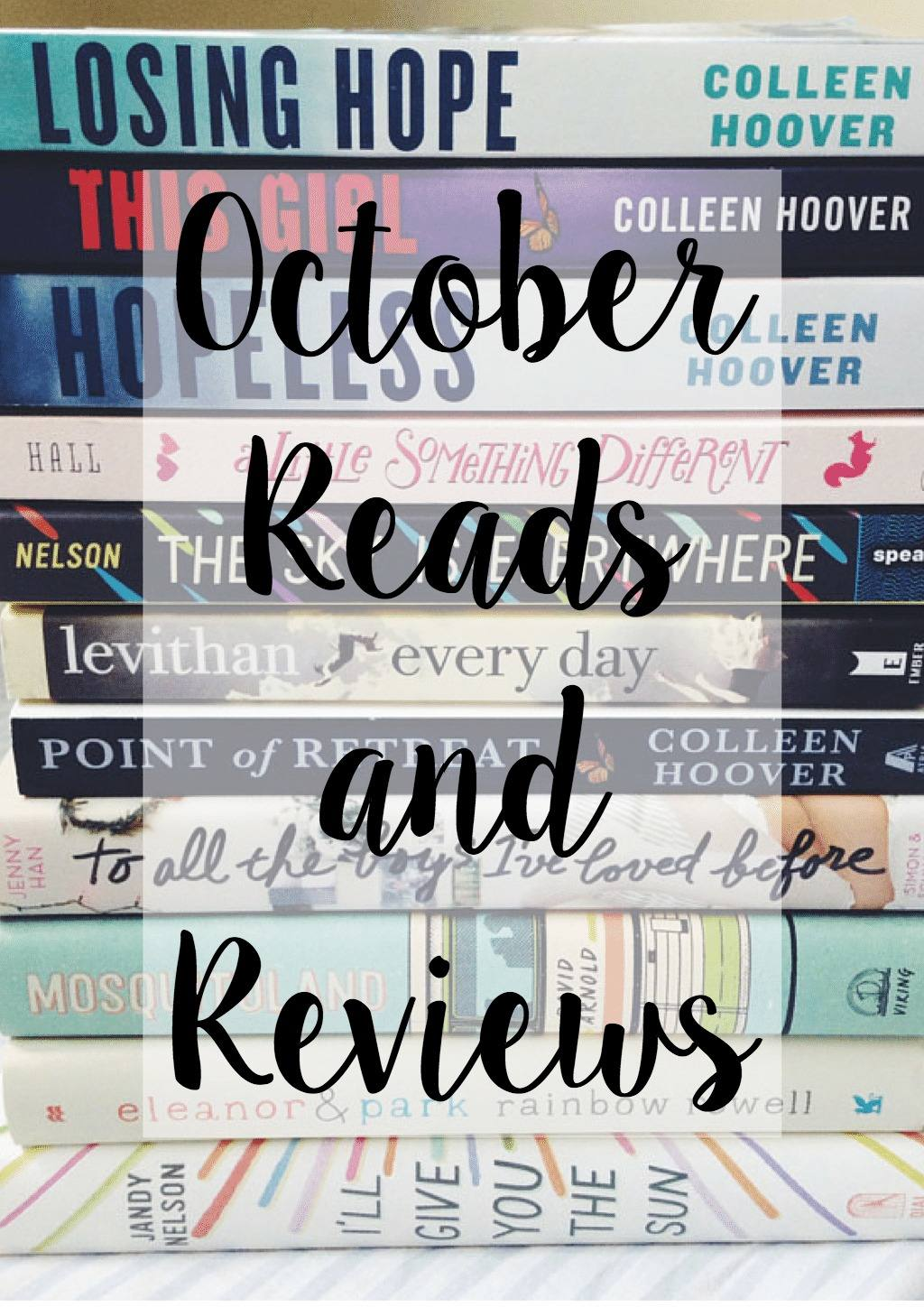 October Reads and Reviews