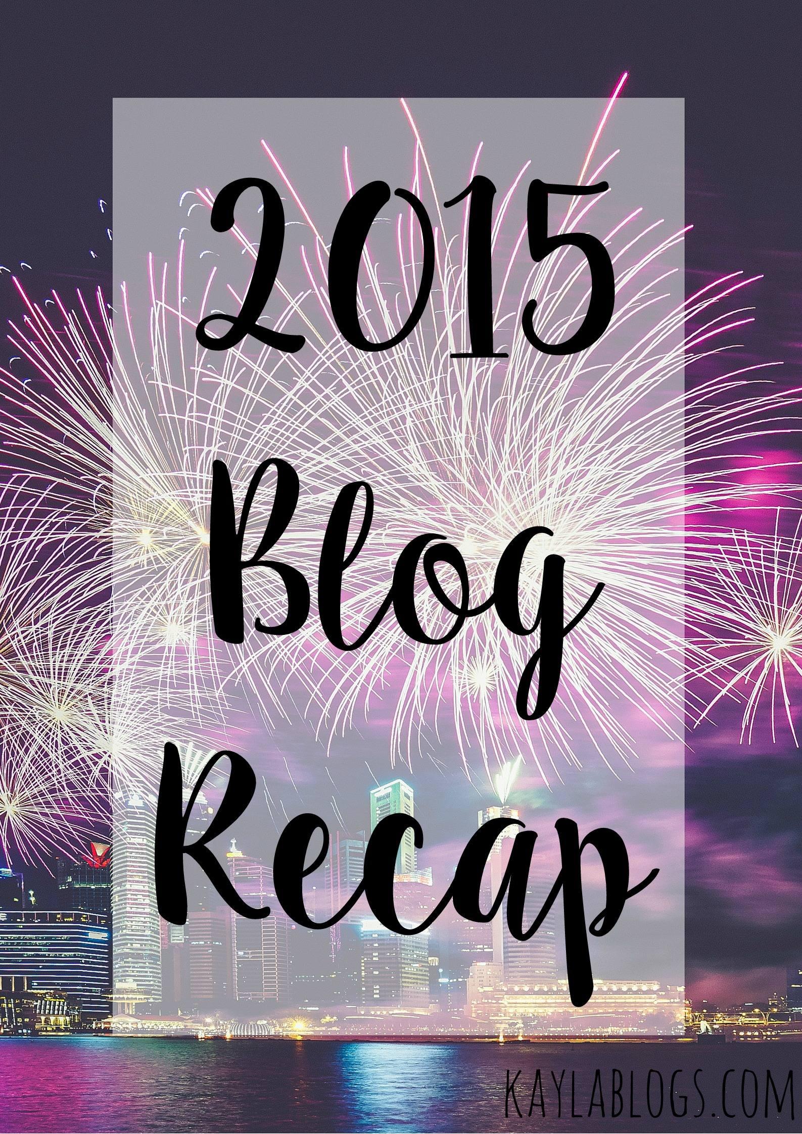 2015 Blog Recap
