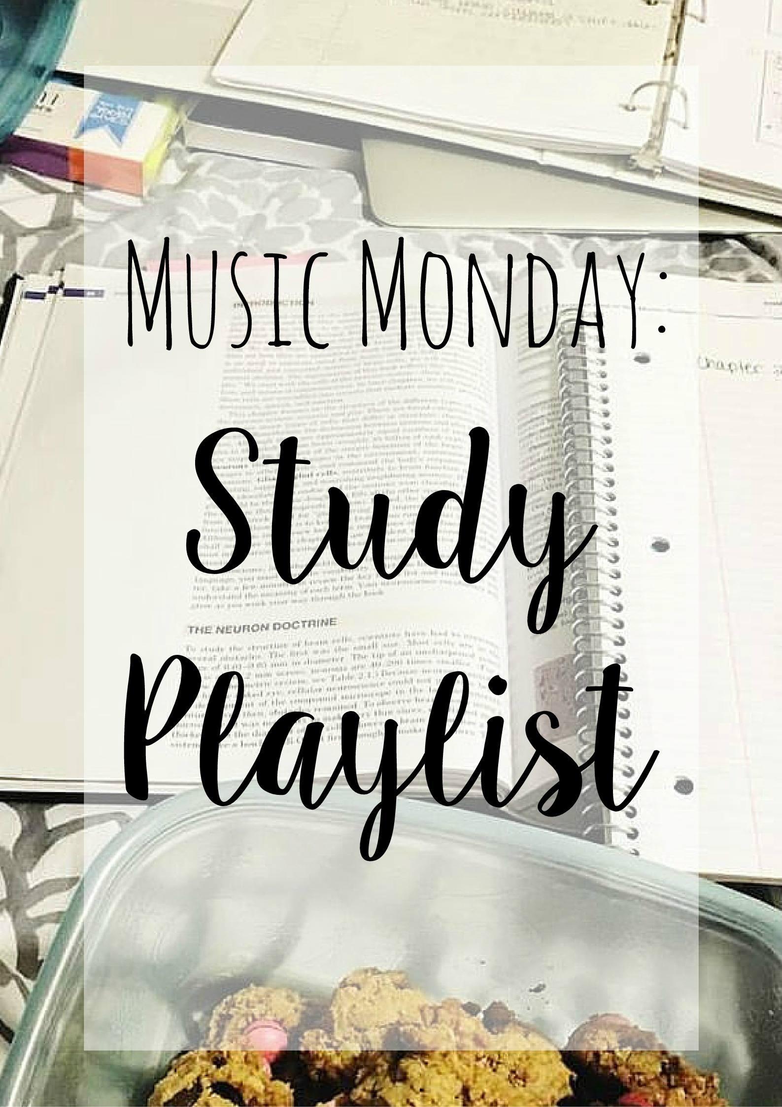 Music Monday: Study Playlist
