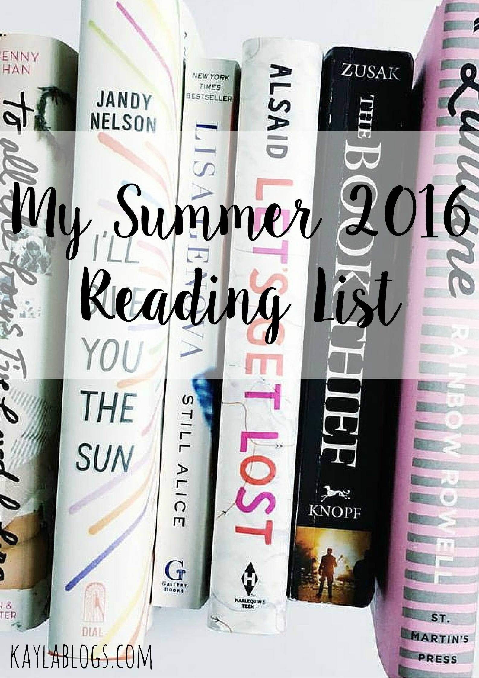 My Summer 2016 Reading List