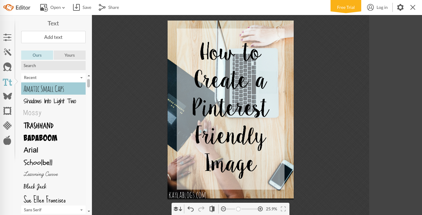 How to Create a Pinterest Friendly Image