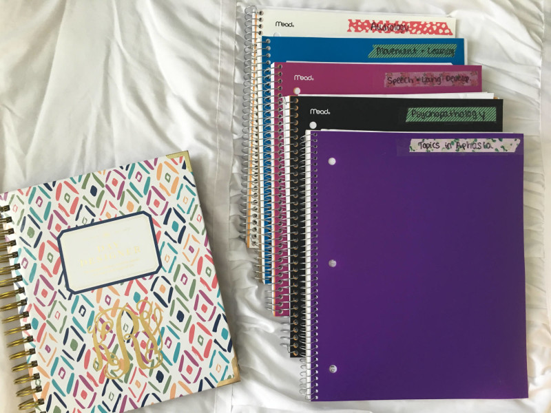 college notebooks