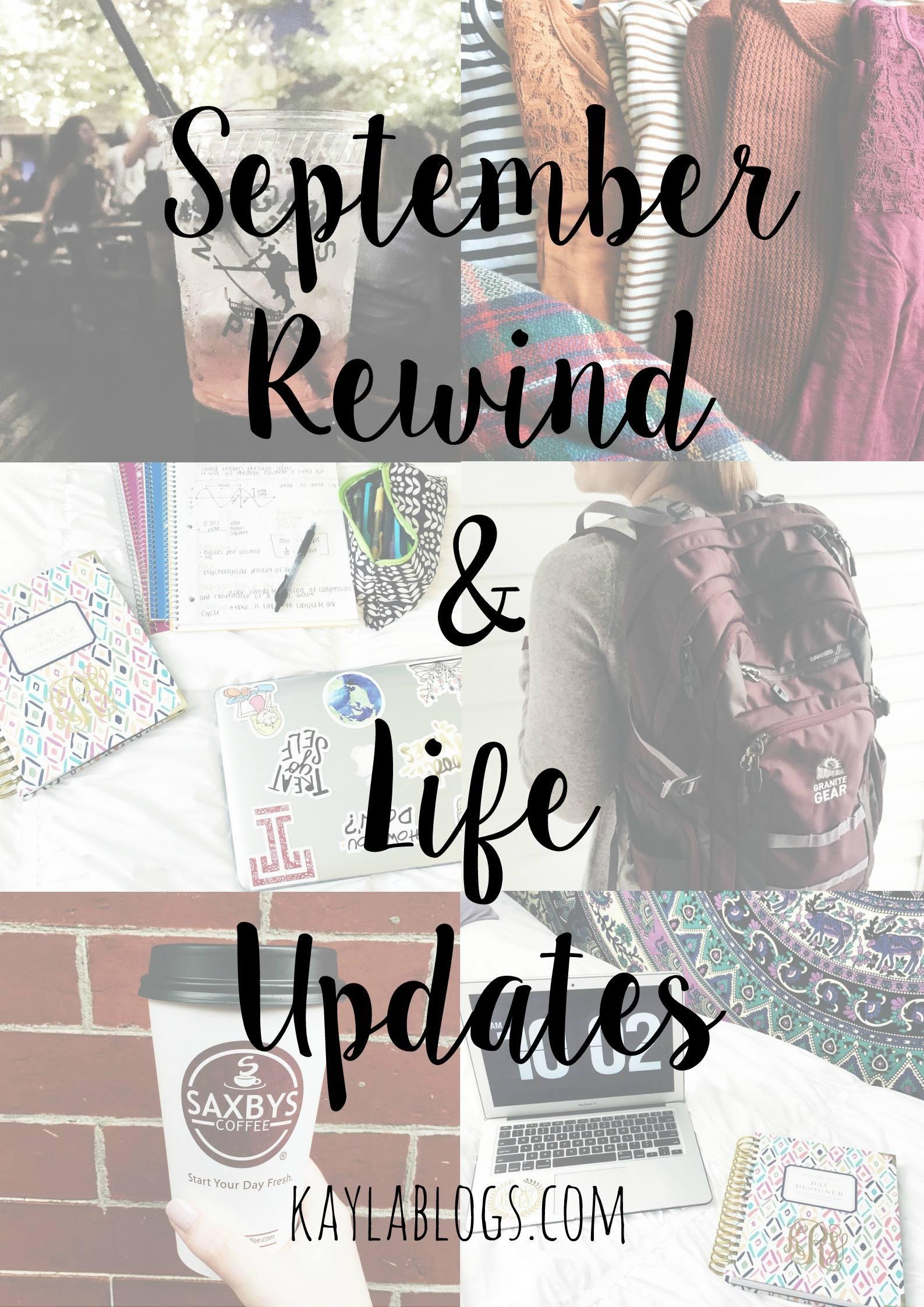 September Rewind + Life Updates