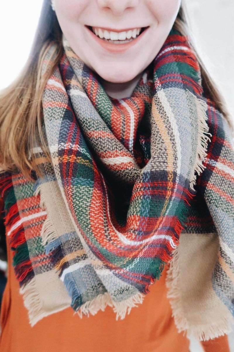 fall fashion blanket scarf