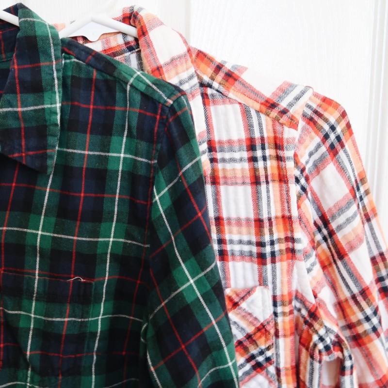 fall fashion flannels