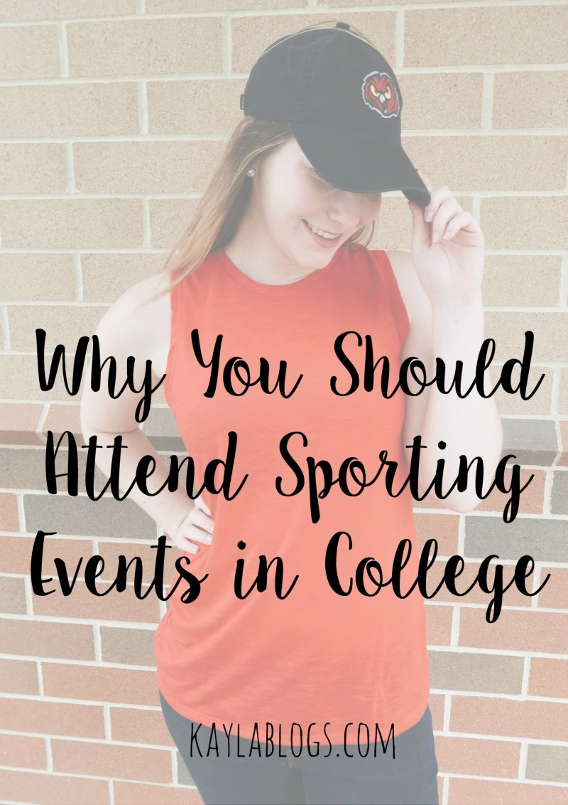 why you should attend sporting events in college