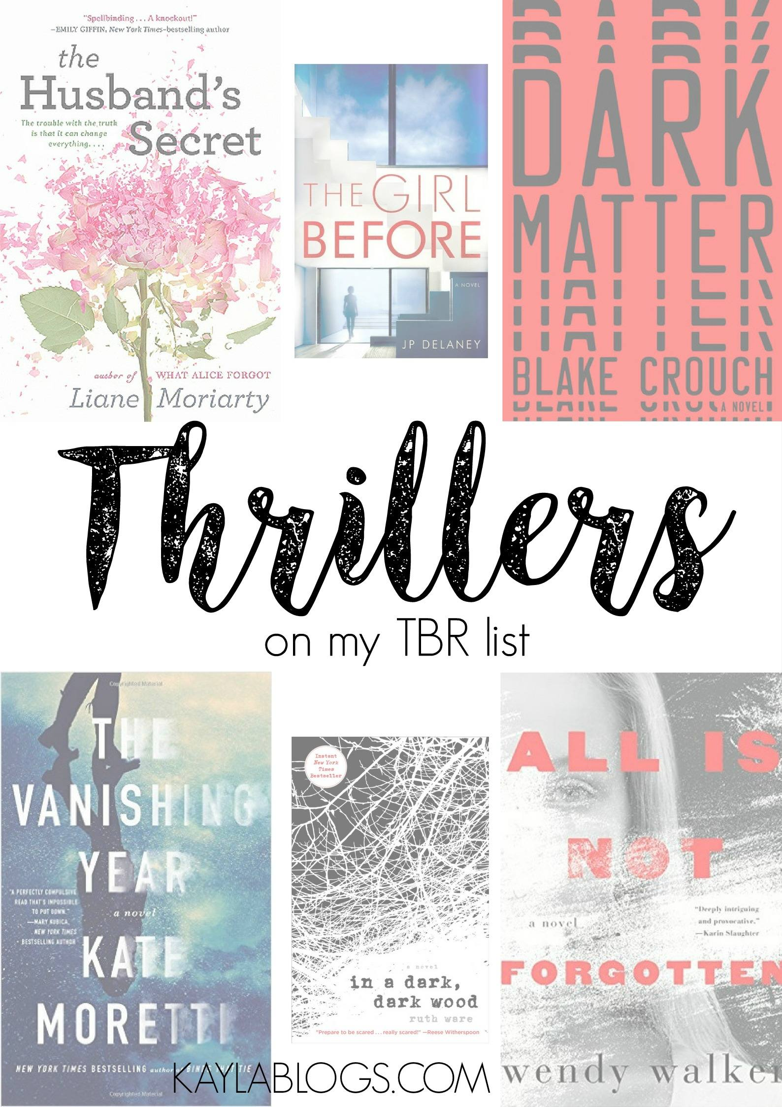 My TBR List: Thrillers I'm Dying to Read