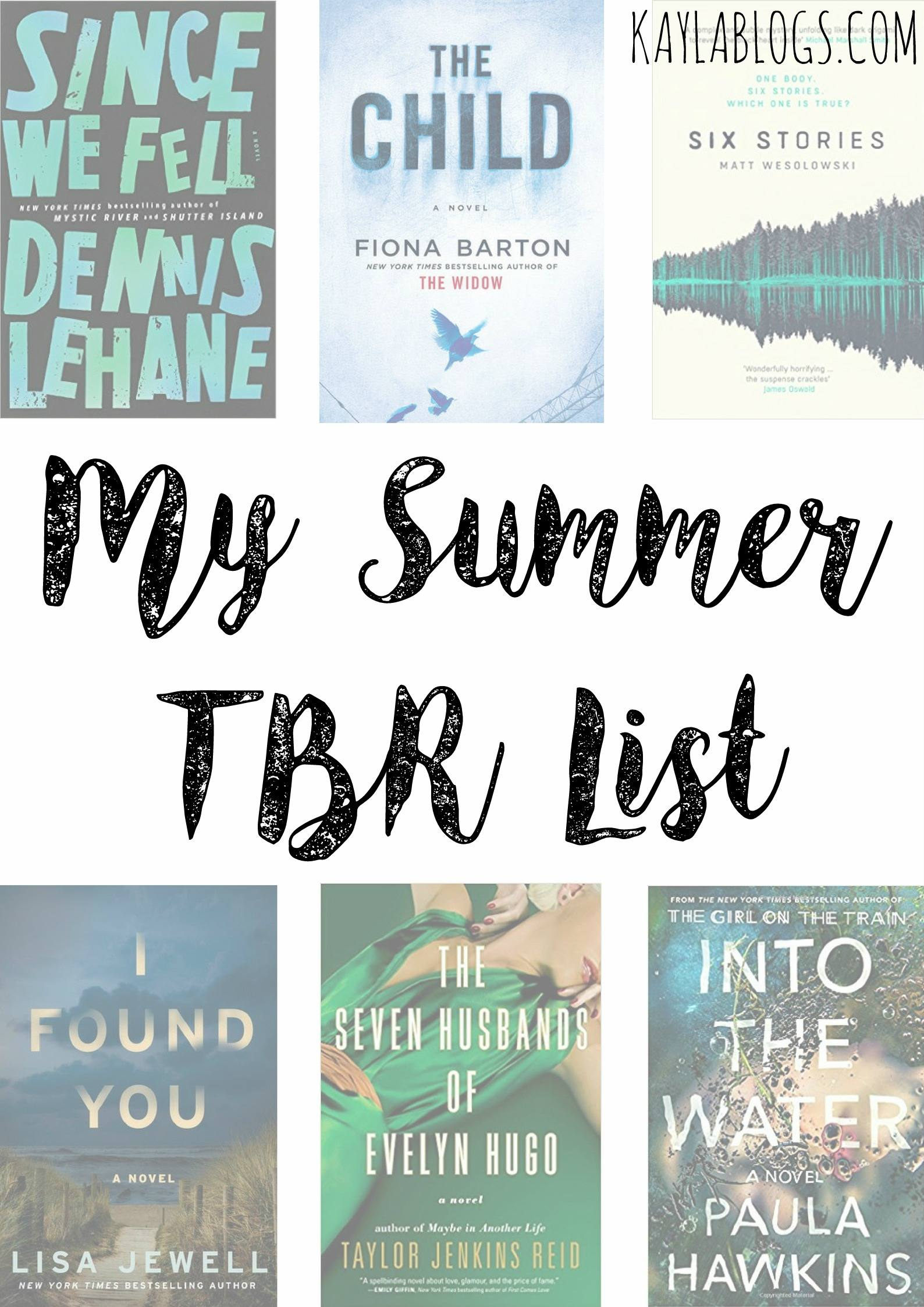 My Summer TBR List