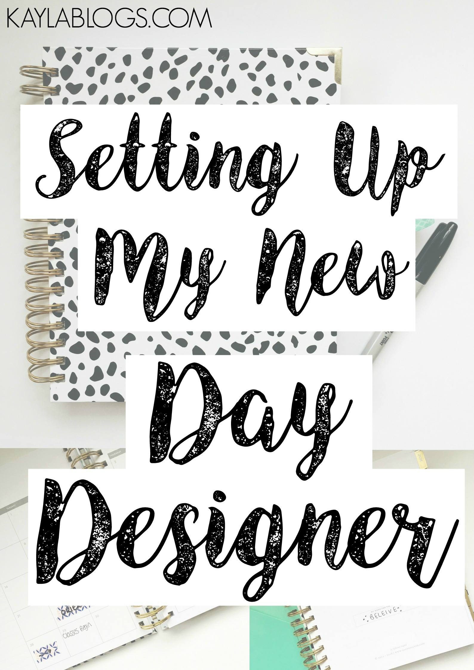 Setting Up My Day Designer for a New Year
