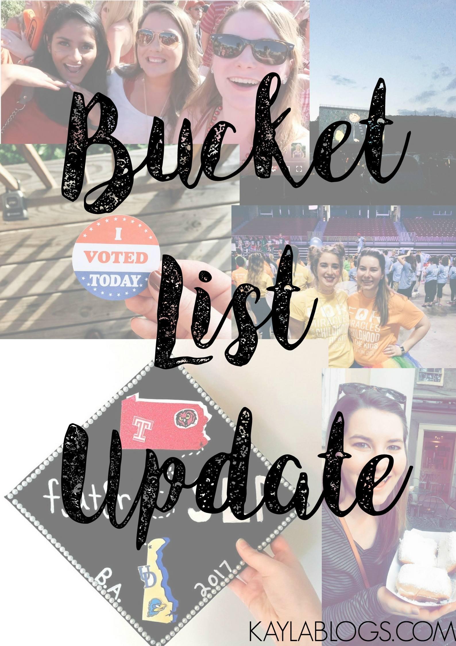 A Bucket List Update