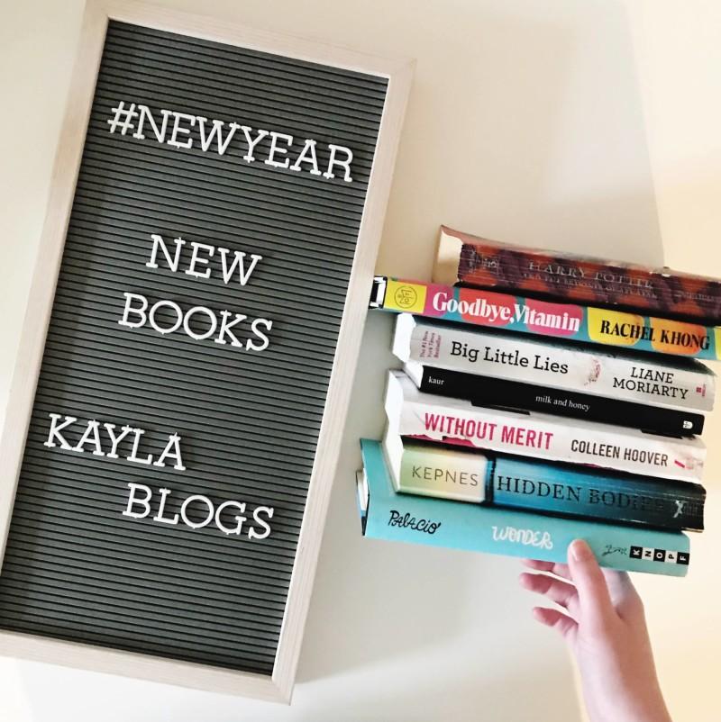kayla blogs new year new books