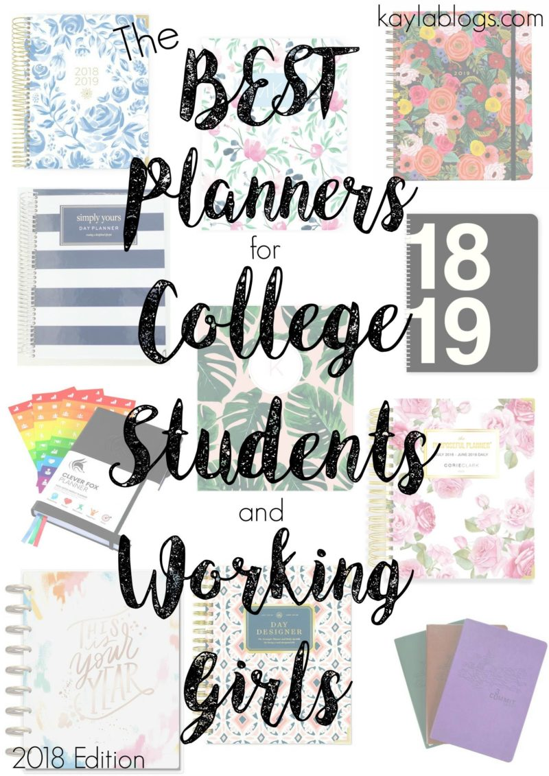 The Best Planners for College Students and Working Girls | 2018 Edition